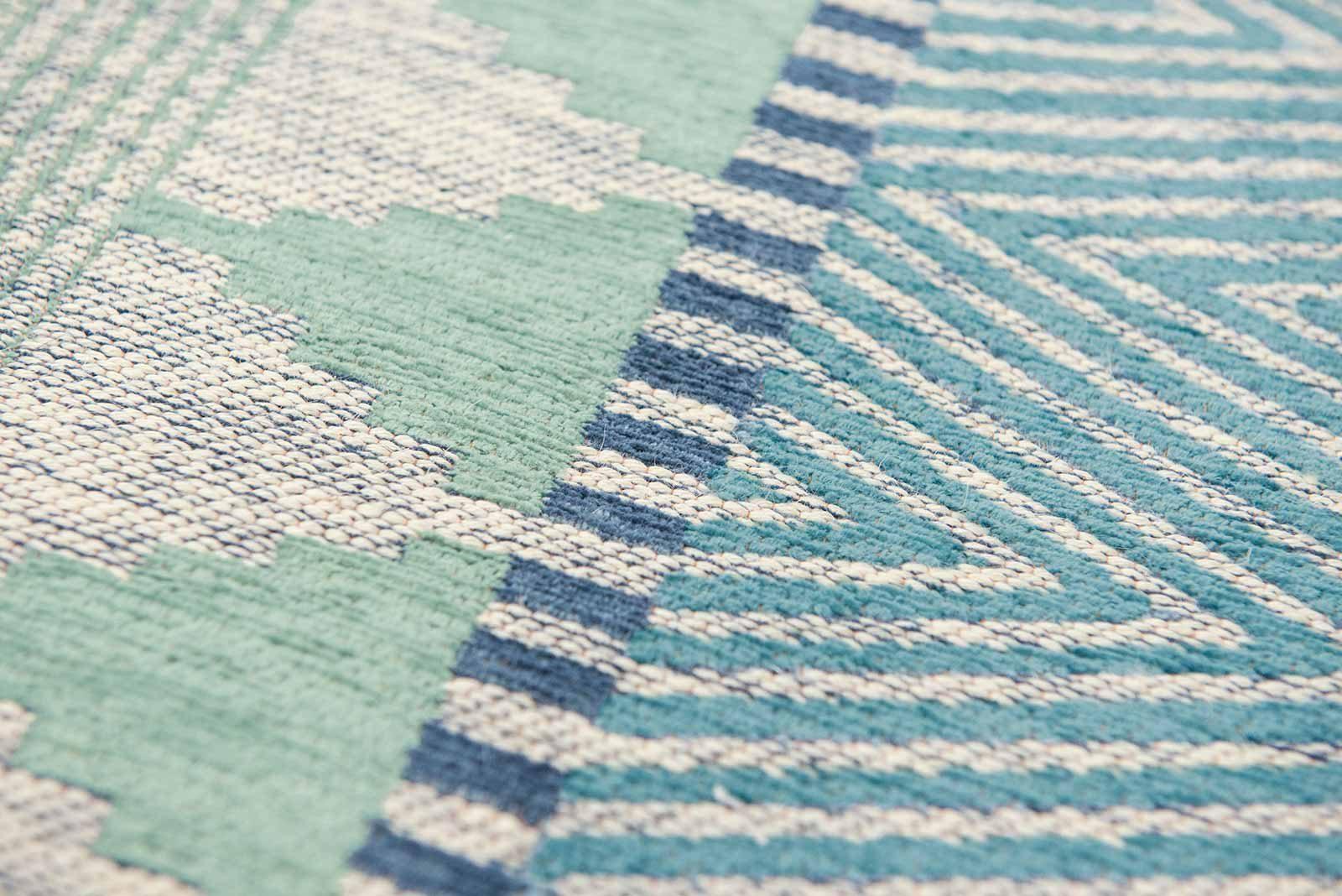 Louis De Poortere teppich Villa Nova LX 8766 Tobi Teal zoom 4