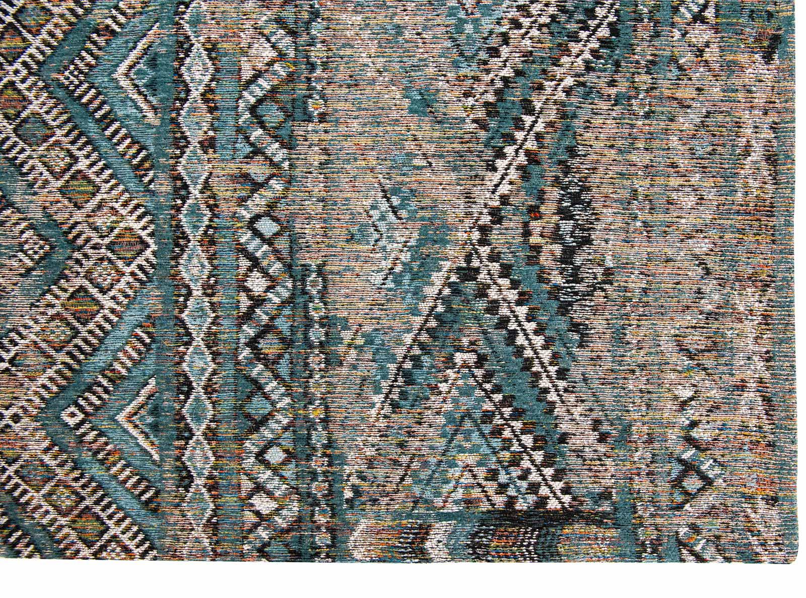 Louis De Poortere teppich LX 9110 Antiquarian Kilim Zemmuri Blue corner
