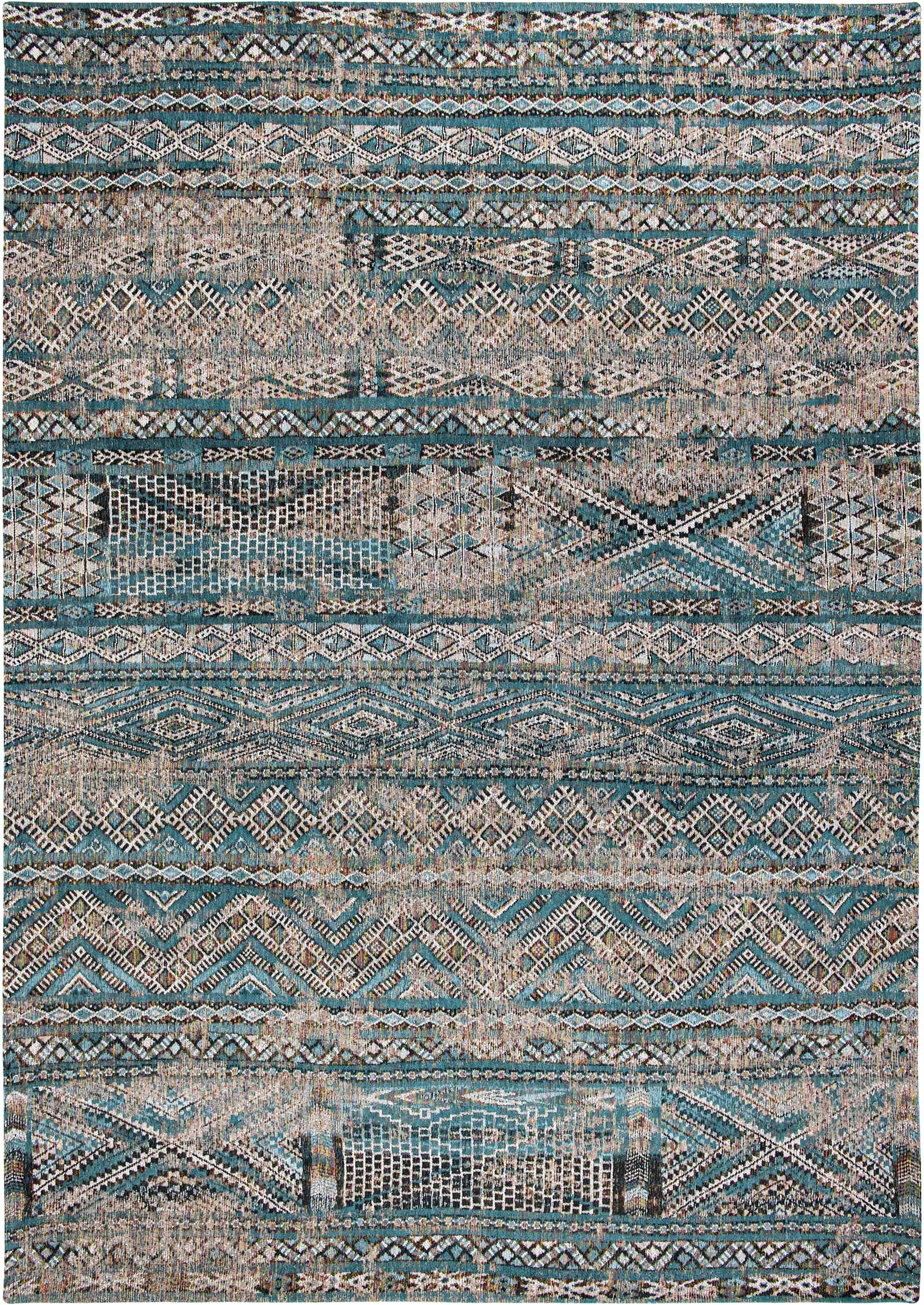 Louis De Poortere teppich LX 9110 Antiquarian Kilim Zemmuri Blue