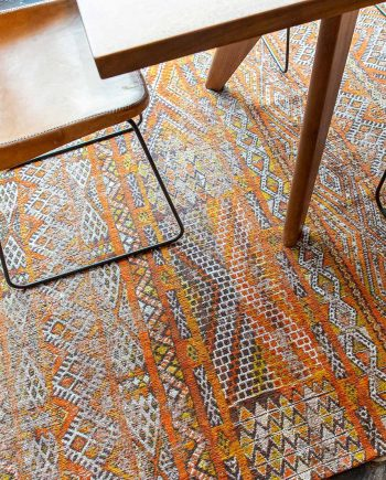 Louis De Poortere teppich LX 9111 Antiquarian Kilim Riad Orange interior 5
