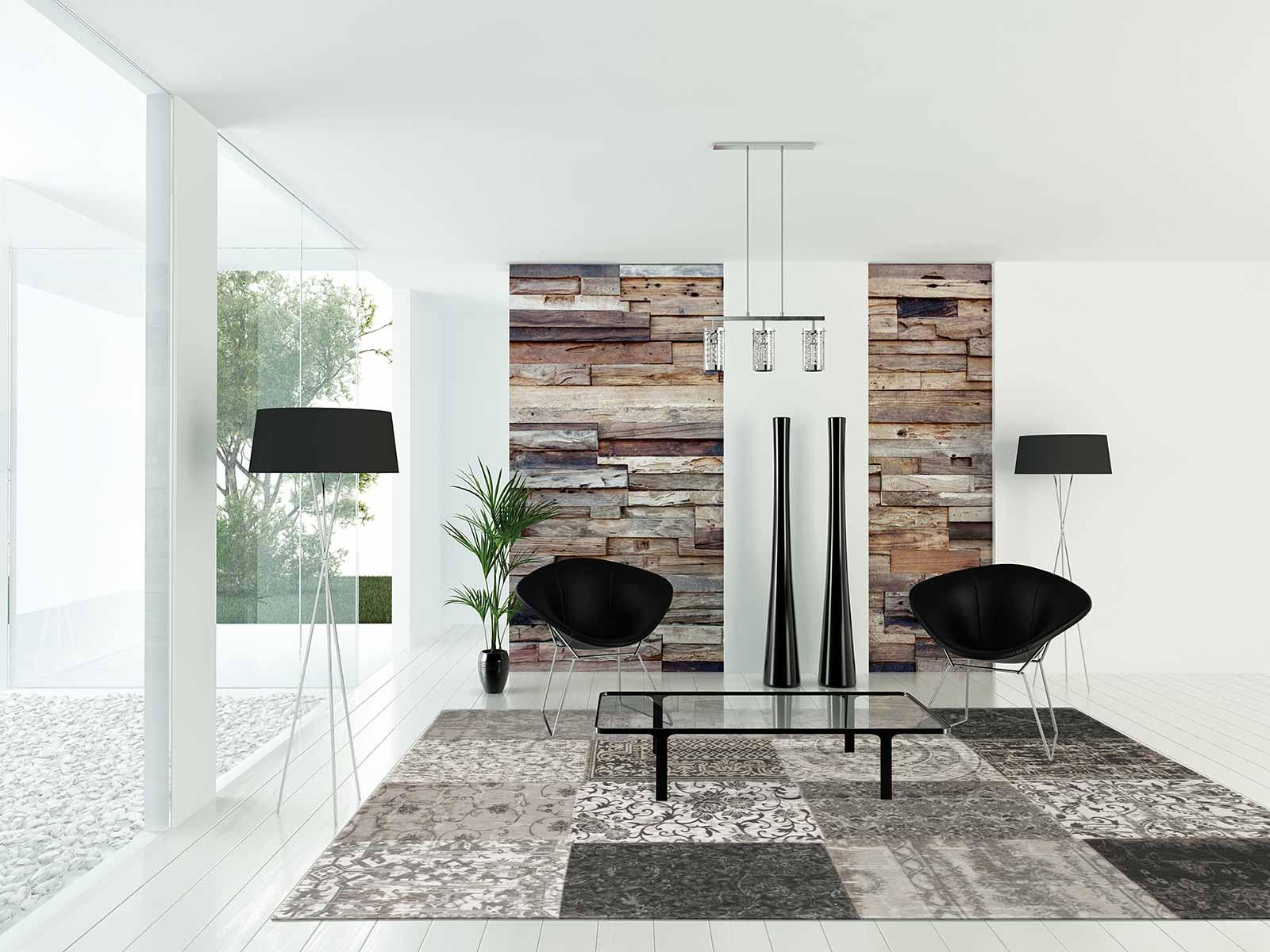 teppich Louis De Poortere LX 8101 Vintage Black White interior 2