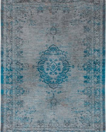 teppich Louis De Poortere LX 8255 Fading World Medaillon Grey Turquoise