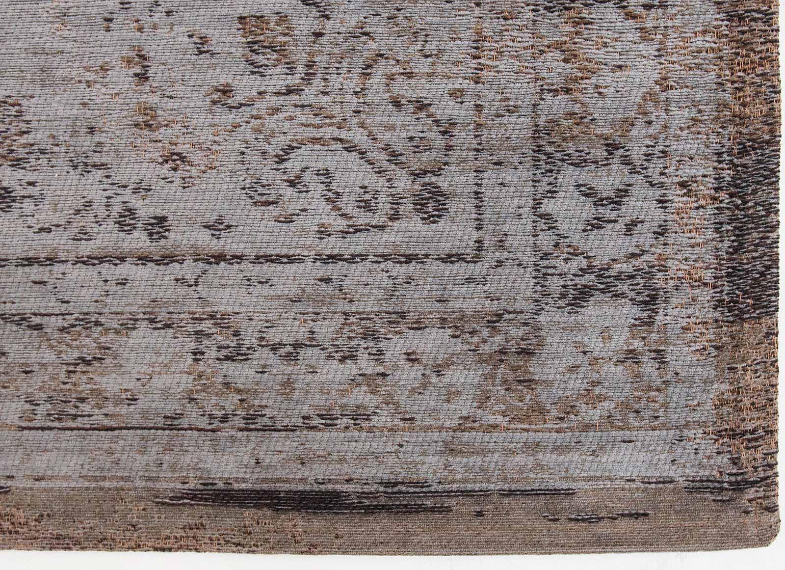 teppich Louis De Poortere LX 8257 Fading World Medaillon Grey Ebony corner