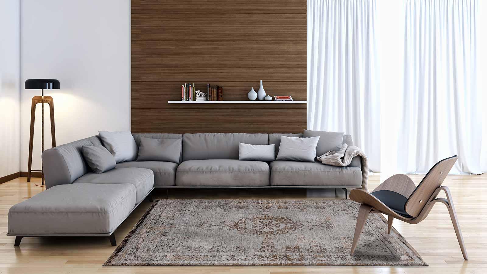 teppich Louis De Poortere LX 8257 Fading World Medaillon Grey Ebony interior