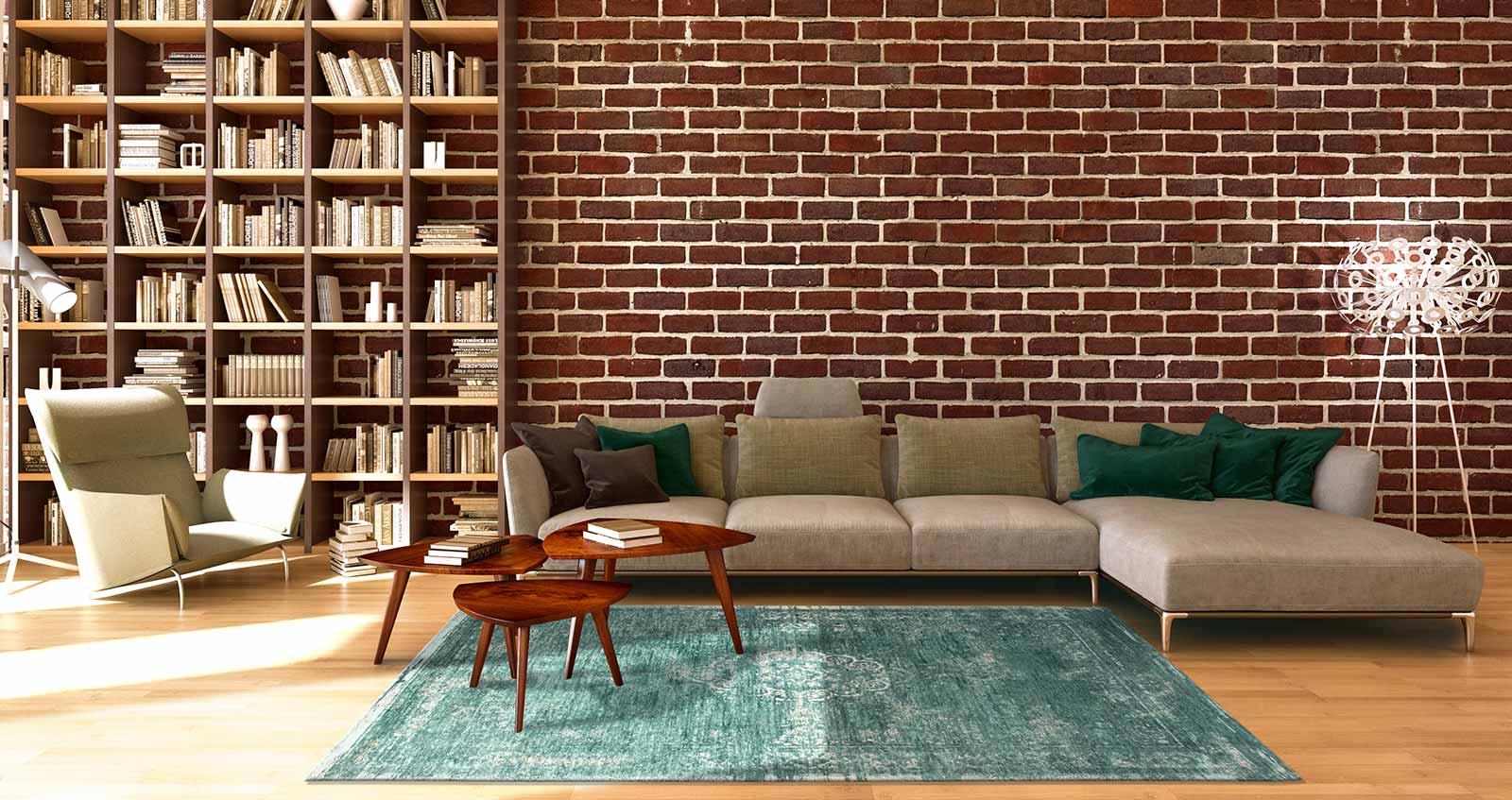 teppich Louis De Poortere LX 8258 Fading World Medaillon Jade interior