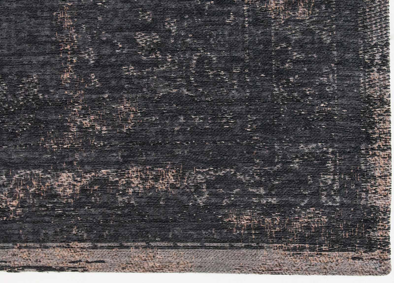 teppich Louis De Poortere LX 8263 Fading World Medaillon Mineral Black corner