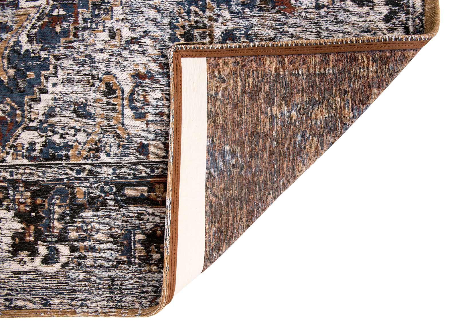 teppich Louis De Poortere LX 8707 Antiquarian Antique Heriz Divan Blue back