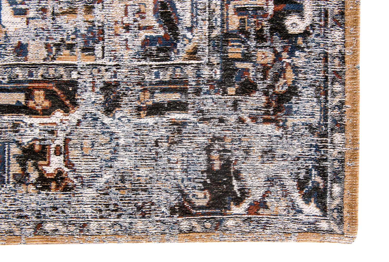 teppich Louis De Poortere LX 8707 Antiquarian Antique Heriz Divan Blue corner